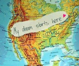Dream, map, and usa image