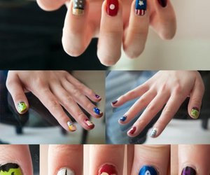 nails, Avengers, and nail art image