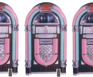 80s, jukebox, and pink image