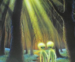 alien and forest image