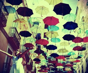 umbrella, color, and happy image