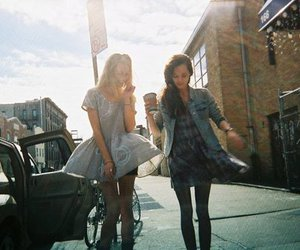girl, friends, and street image