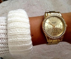 girl, fashion, and watch image