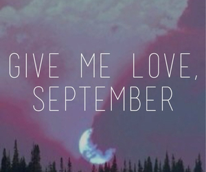 love, September, and moon image