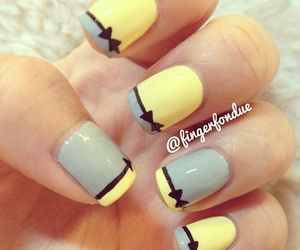 nails, yellow, and bow image