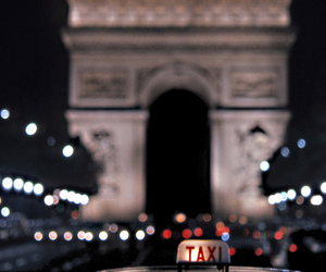 paris, light, and taxi image