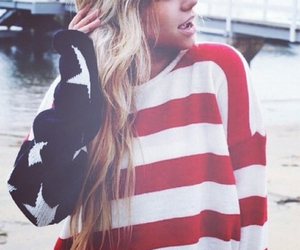 american flag, beautiful, and clothes image
