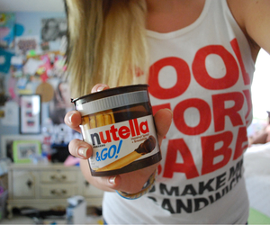 hair, nutella, and quality image