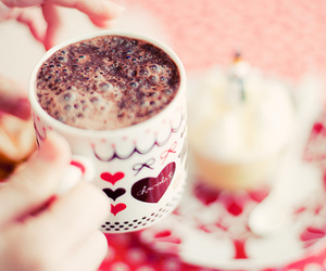 chocolate, cup, and pink image