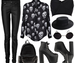 goth, outfit, and inspiration image