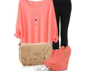 outfit, pink, and black image