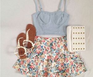 outfit, summer, and skirt image