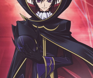 anime, code geass, and lelouch lamperouge image