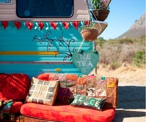 travel, peace, and hippie image