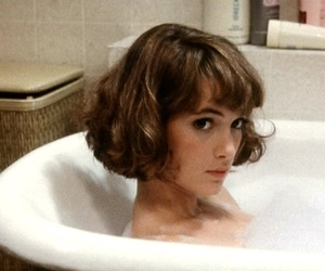 actress, bathroom, and brunette image