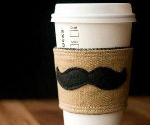 coffee, starbucks, and mustache image