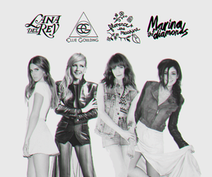 Ellie Goulding, lana del rey, and marina and the diamonds image