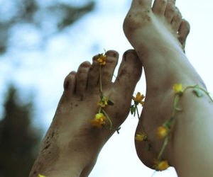 feet, flowers, and nails image