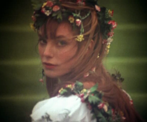 flowers, girl, and jane birkin image