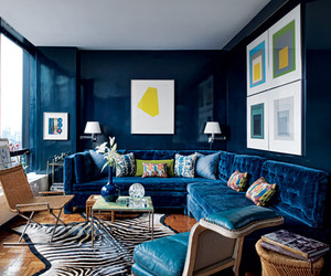 blue, home, and inside design image