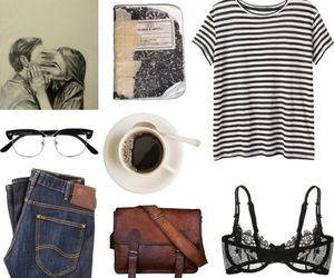 outfit, coffee, and fashion image