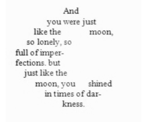 quote, moon, and shine image
