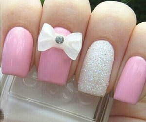 bow, pink, and glitter image