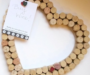 heart, cork, and diy image