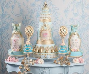 beautiful, rococo, and blue image