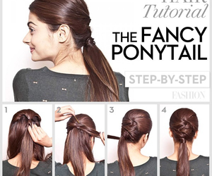 hair, tutorial, and ponytail image