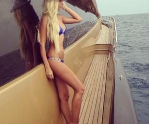 blonde, girl, and bikini image