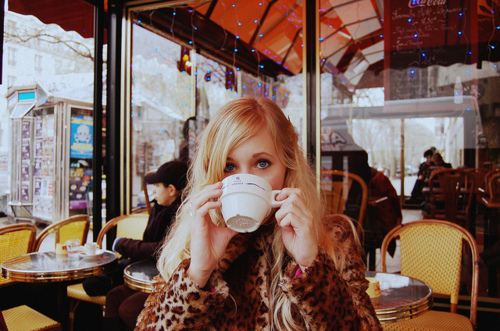 blonde, cafe, and cup image