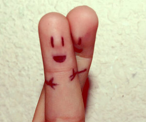 fingers, hug, and smile image