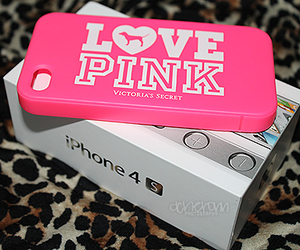 cover, love pink, and iphone 4s image