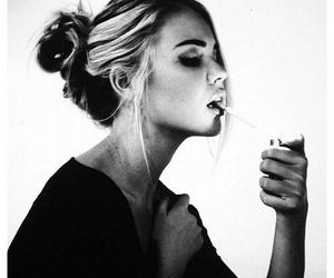 girl, sexy, and smoking image