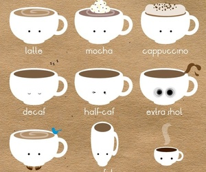 <3, coffee, and delicious image