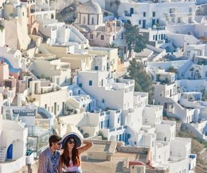 Greece, couple, and travel image