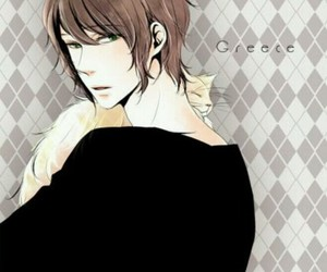 boy, aph greece, and cat image