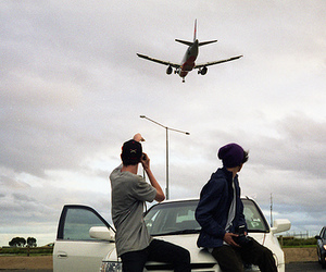 boy, airplane, and car image