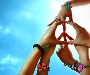 flower, peace, and sky image