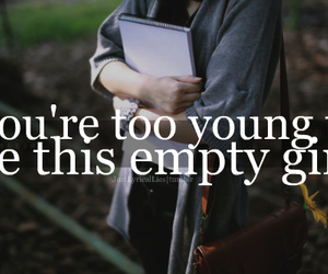 empty, girl, and quote image