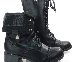 black, shoes, and black boots image