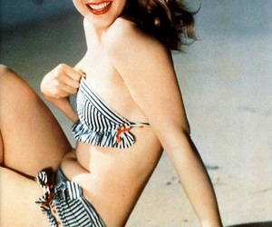 beach, Marilyn Monroe, and woman image