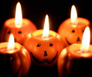 Halloween, candle, and pumpkin image