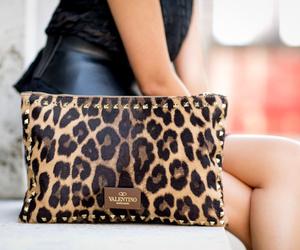 bag, black, and leopard image