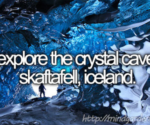 crystal cave, iceland, and bucket list image