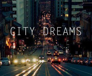 city, love, and dreams image