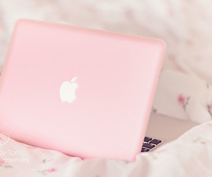 adorable, floral, and laptop image
