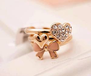 rings, heart, and ring image