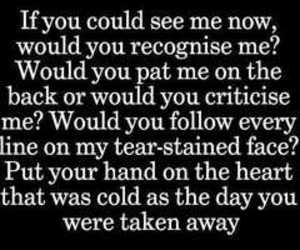 the script, if you could see me now, and Lyrics image